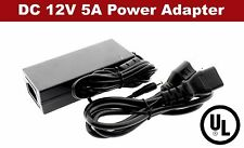 UL 12V 5A 60W Power Supply AC to DC Adapter for 5050 3528 LED Strip Light
