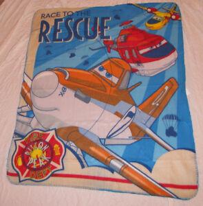 "DISNEY PLANES FLEECE THROW DUSTY FIRE AND RESCUE 40"" X 50"" BLANKET DEPT. SOFT!!!"