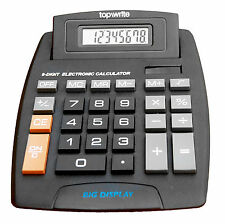 Jumbo Desktop Calculator 8 DIGIT Large Button School Home Office Battery Solar