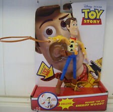 "Mattel Disney Pixar Toy Story Round 'Em Up Sheriff Woody Deluxe 7"" Figure - New"