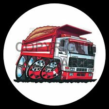 Koolart 4x4 4 x 4 Spare Wheel Graphic Volvo Grain Gravel Tipper Sticker 126