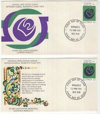 Australia 2 x International Women's Year FDC 1975