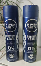 2 x Nivea Deospray Men - Protect & Care Antitranspirant  ohne Aluminium 48 Std