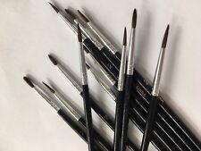 "ANDERSON PAINTBRUSHES/ ARTIST CAMEL HAIR BRUSHES 1/8"" Diam #2 W/  3/8"" Trim 12CT"
