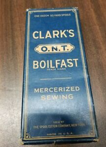 vintage Clark thread box full