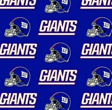 NFL Team New York Giants Helmet Logo Royal Blue Quilting Cotton Fabric 6314