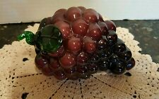 Hand Blown Glass Grapes Beautiful Color (Heavy)