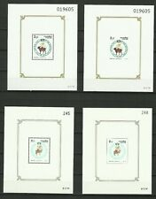 Thailand Stamps: 1991, 1997 Songkran Day Souvenir Sheets Perf & Imperf Mint Nh