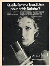 PUBLICITE ADVERTISING 045  1970  LANCOME   eau de toilette  after-shave BALAFRE