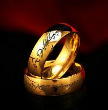 """GOLD Titanio """"Il Signore degli Anelli Hobbit"""" Misura Anello R 3/4"""
