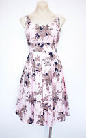 PRINCESS HIGHWAY Size 6 Dress Pale Pink Cotton Fit and Flare Retro