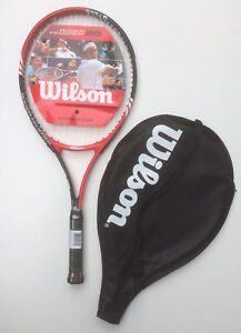 Wilson Roger Federer 25 (Red) besaitet NEU (plus Hülle) Juniorracket