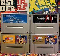 Super Famicom Games Lot of 4 Nintendo SFC SNES Japan Authentic