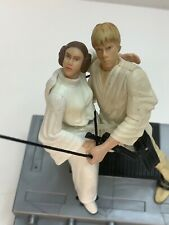 Star Wars Luke Skywalker Princess Leia Swing to Freedom POTJ Figures LOOSE 2002