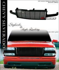 FOR 1999-2002 CHEVY SILVERADO 1500 2500 BLK HORIZONTAL FRONT BUMPER GRILL GRILLE