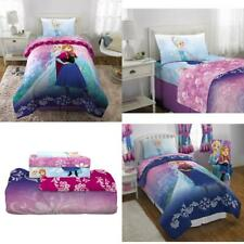 Disneys Frozen Elsa Anna Bed in a Bag Kids Bedding Set, Nordic Frost, w/ Rever