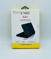 Zagg Folio Tablet Bluetooth Ultra-Slim Keyboard & Case For iPad Mini 4 - Black