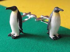 Emperor Penguin Cufflinks--Seaworld Ocean Aquatic Nature Animal Antarctic