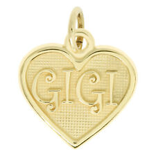 14Kt Yellow Gold Polished Grandmother Gigi Charm Pendant