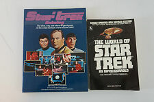 Star Trek 2 Bücher Katalog Paramount + the world of Star Trek englisch B5467