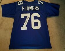 ERECK FLOWERS SIGNED AUTOGRAPHED CUSTOM GIANTS BLUE JERSEY JSA WITNESSED
