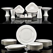 Russian Imperial Lomonosov Porcelain Table Service 6/33 Golden Ribbon 22k Gold