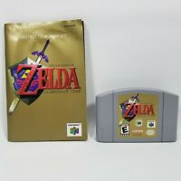 The Legend of Zelda Ocarina of Time Gray Cart Manual Nintendo 64 N64 Authentic