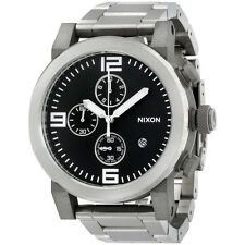 Nixon A347000 ride ss chronograph black dial stainless steel bracelet men watch