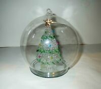 Vintage CHRISTMAS TREE ORNAMENT - Beautiful LAMPWORK GLASS