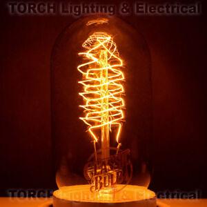 "Vintage ""Edison Look"" CLASSIC BULB Tubular T14 Spiral Filament Lamp Light"