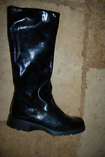 New Black Crinkly Patent Leather ANDRE ASSOUS TALL Water Resistant Boots 5 B