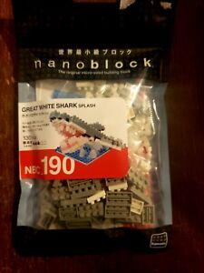 Rare Variant Great White Shark w water Nanoblock Micro Building Blocks NBC 190