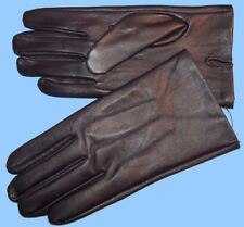 NEW MENS size 9 or LARGE DARK PURPLE SHEEP LEATHER UNLINED GLOVES shade 10553
