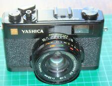 YASHICA ELECTRO 35 CC FILM CAMERA + CASE BLACK VGC WORKING