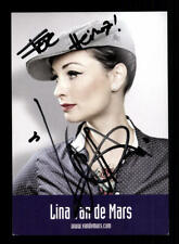 Lina van de Mars Autogrammkarte Original Signiert # BC 128865