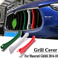 3 Color ABS Front Grill Grille Insert Trim Cover For Maserati Ghibli  !! !W @ L