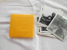 Old Photos In Storage Container Vintage 3 3/4 X 3 3/4 Yellow King Size