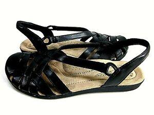Earth Origins Nellie Womens Black Sandals US Size 8.5 M