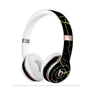 Black MARBLE Skin for BEATS SOLO PRO STUDIO 2 3 Wireless Decals Cover Stickers
