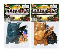 Green Vs Tan Army Tanks And Soldiers Figures 2 Package Set New In Packs!