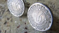 Mexico Aztec 10 Centavos Coin Cufflinks ! + Gift Box