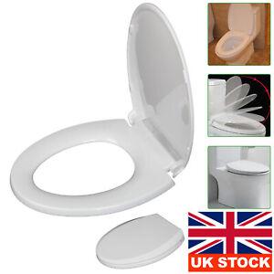 O SHAPE  LUXURY BATHROOM  SOFT CLOSE WHITE TOILET SEAT SEATS WC HEAVY DUTY