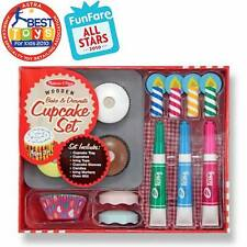 Melissa & Doug Bake & Decorate Cupcake Set #4019 New