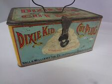 RARE VINTAGE ADVERTISING TOBACCO DIXIE KID LUNCH PAIL STYLE CANISTER TIN 928-I