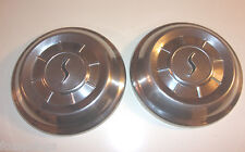 "Studebaker Dog Dish Hub Caps 10"" Stainless Set of 2             -  HC644"