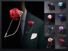 Revers-Pin Anstecknadel Rosa Satin Brosche Anzug-Pin Reversenadel Pin´s Hochzeit