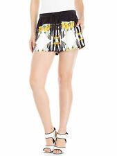 Rebecca Minkoff Mujer Negro y Amarillo La Seda Pantalones Cortos Nwt