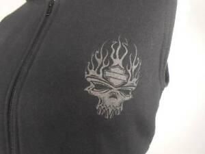 Cool Women's Medium Harley-Davidson Orange County Irvine Ca Black Hoodie Jacket