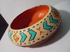 Six Nations Pottery - Hand Made/Painted Clay Pot - Signed by Thelma Davis