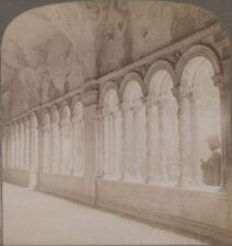 Italy. Beautiful Twisted Column. Ancient Cloisters of St. Paul's Rome Stereoview